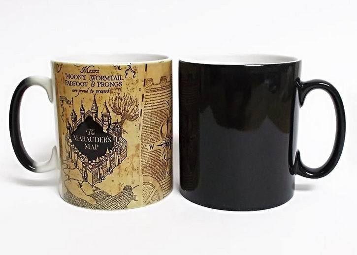 Color Changing Mug Harry Potter Marauders Map Tea Cup Collectors