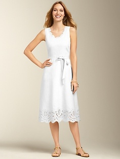 Eyelet linen dress talbots win a trip to nantucket for Talbots dresses for weddings