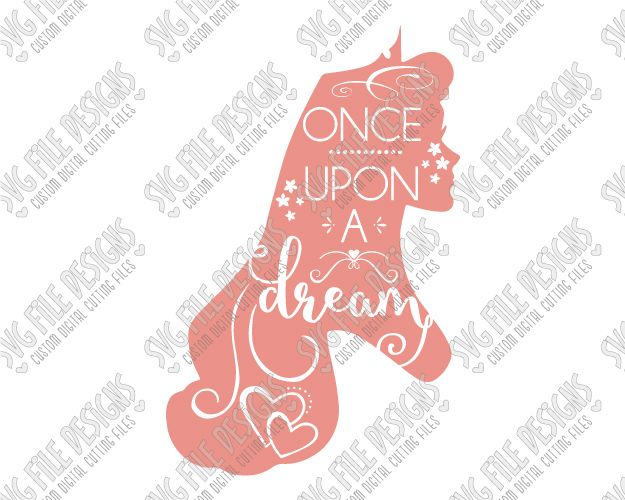 Aurora Silhouette Disney Word Art Cut File Set in SVG, EPS, DXF, JPEG, and PNG