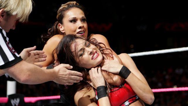The Bella Twins vs. AJ Lee & Tamina: photos   WWE Raw   Aj ...