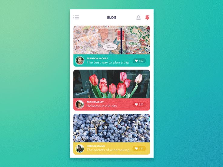 GIF for Blog App by Tubik Studio