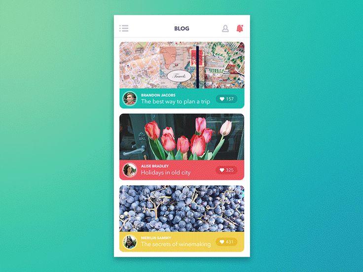 Dribbble - GIF for Blog App by Tubik Studio