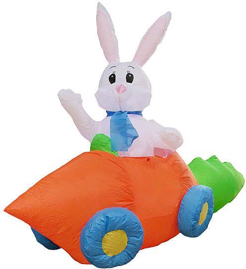 5' Inflatable Carrot Car Bunny
