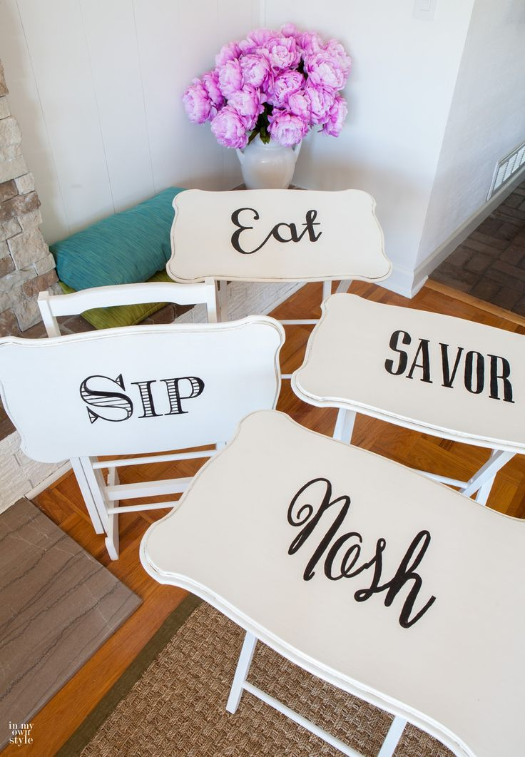 How to makeover furniture with typography image transfers.