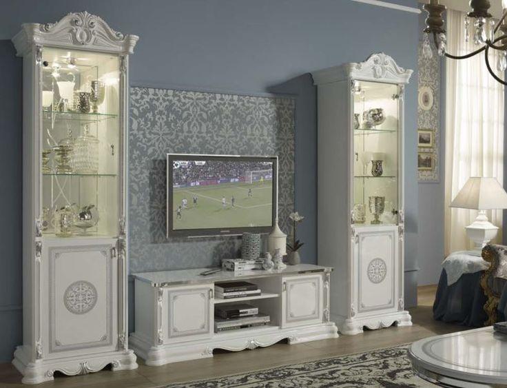 Geena White High Gloss Italian Made TV Display Units