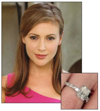 Celebrity Engagement Ring Alyssa Milano David Bugliari