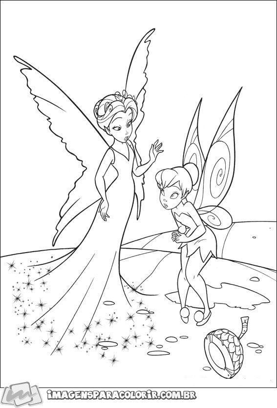 Tinker Bell Esta Aqui No Imagens Para Colorir Venha Colorir A