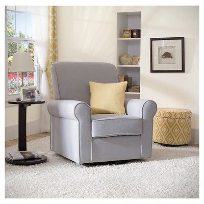 Delta Children Avery Nursery Glider Swivel Rocker Chair – Gray