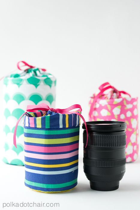 Padded Camera Lens Case Sewing Tutorial on polkadotchair.com à faire quand j'aurais un téléobjectif °+)