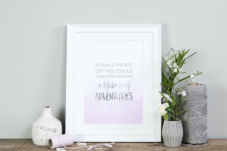 A beautiful, inspirational, typographic quote print that would make a wonderful addition to any children's nursery, bedroom or playroom. Also a unique gift idea for girls for Christmas or birthdays too.