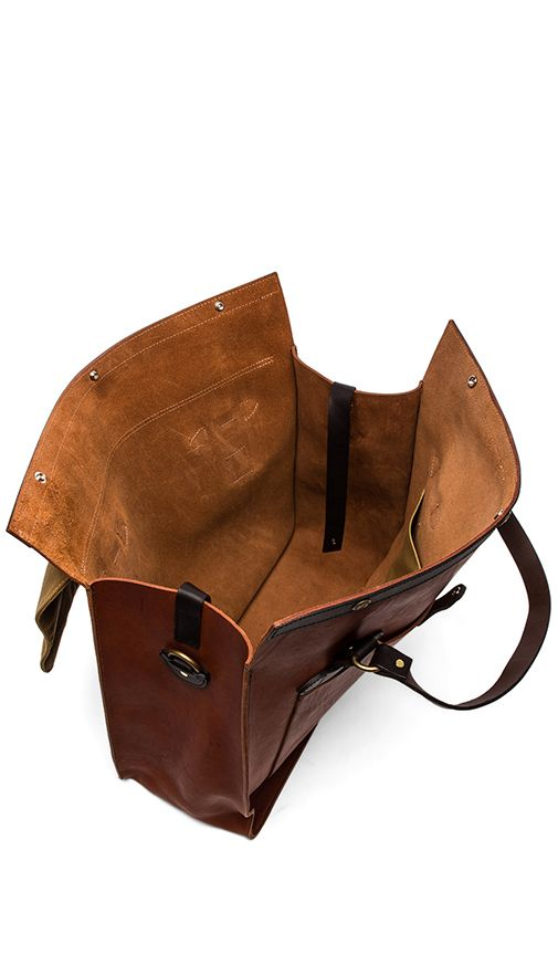 Filson Large Leather Tote in Cognac   REVOLVE