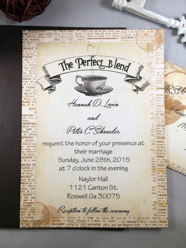 tulip wedding invitation templates%0A Rustic Wedding Invitation  Coffee Wedding Invitation  The Perfect Blend Wedding  Invitations  Antique Wedding