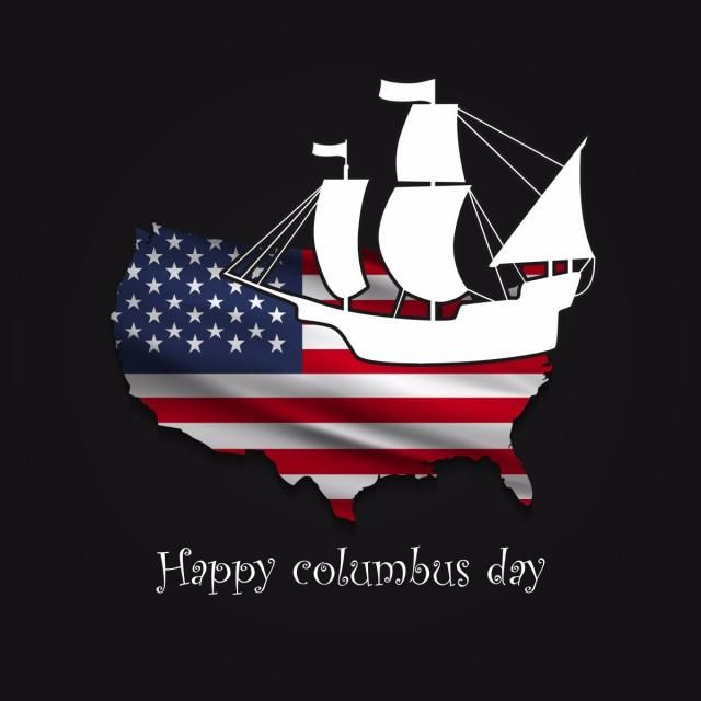 Happy Columbus Day National Usa Holiday American Flag Flat Vector Illustration Flag Icons Happy Icons American Icons Png And Vector With Transparent Backgrou Happy Columbus Day Columbus Day Flag Icon