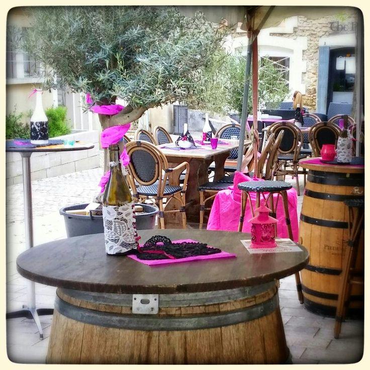 Decoration de table pour degustation de vins espagnols