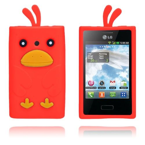 Duck (Red) LG Optimus L3 Cover