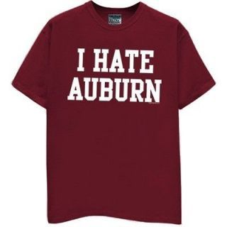 Hate Auburn T Shirt Crimson Jersey Tide Alabama Football Funny Hat