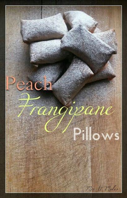 Peach Frangipane Pillows by Mrs U Makes #baking #recipes @MrsUMakes