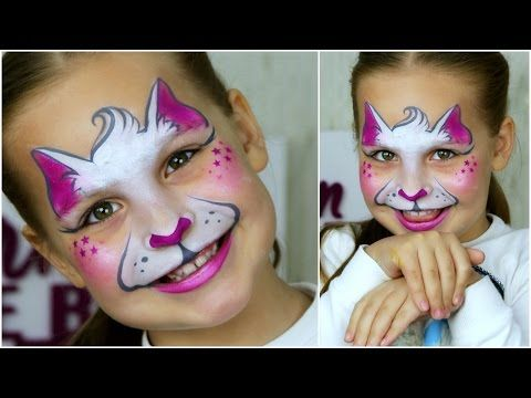 Super Fast & Easy Kitty-Cat — Face Painting for Small Kids - YouTube