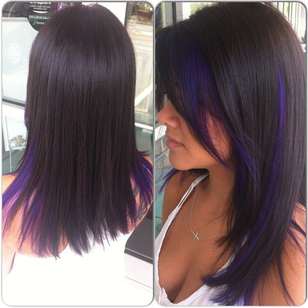 dark purple streaks peek a boo - Google Search
