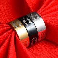 Wish   316l Stainless Steel Batman Rings Titanium Steel Rings For Women and Men