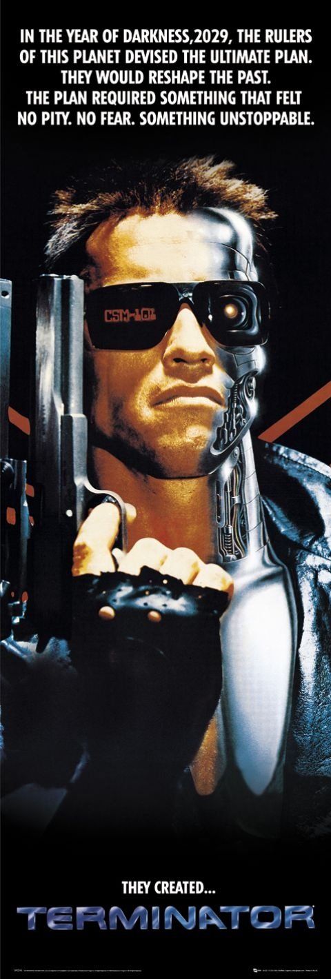 The Terminator: The Uzi 9 mm. Shopkeeper: You know your weapons, buddy. Any one of these is ideal for home defense. So, uh, which'll it be? The Terminator: All. Shopkeeper: [Surprised] I may close early today [Bends down to get paperwork, terminator loads gun] there's a, uh, 15 day wait on the handguns but the rifles you can take right now [He gets up, notices the gun being loaded], you can't do that. The Terminator: Wrong. [fires at Shopkeeper].