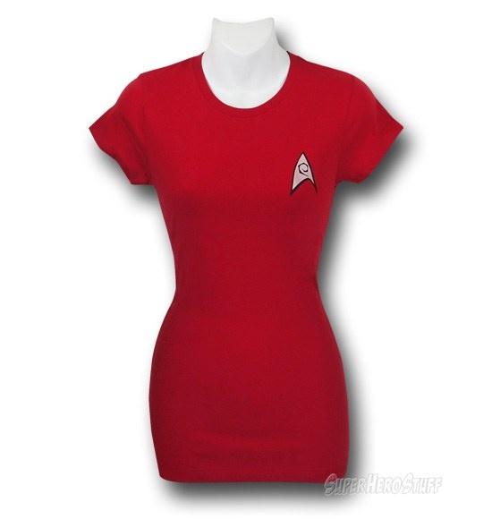 Star Trek Jr Women's Security Uniform T-Shirt..WANT!!!