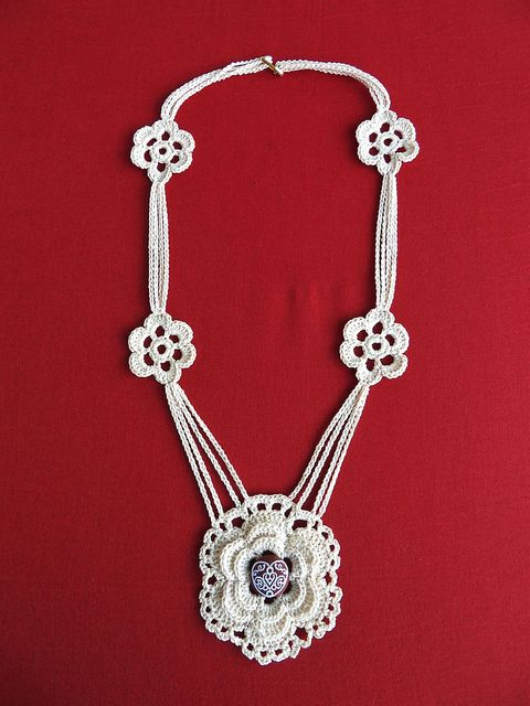 .Crocheted necklace