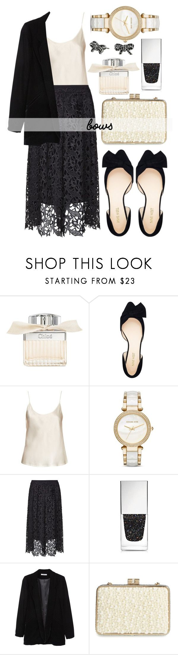 """""""Put a bow on it"""" by alaria ❤ liked on Polyvore featuring Chloé, Nine West, La Perla, Michael Kors, Three Floor, Givenchy, MANGO, Sondra Roberts, Marc Jacobs and bows"""