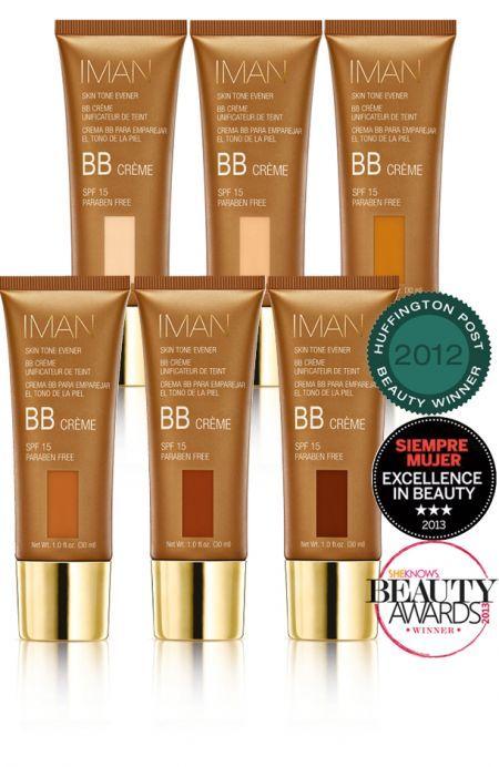 LA fameuse BB cream pour peau noire Iman,  l'alliance idéale du soin et du maquillage. Elle hydrate, matifie, sublime et lisse en un seul geste. La texture est douce et onctueuse, facile à appliquer. Ses actifs anti-taches naturels contribuent à unifier le teint.