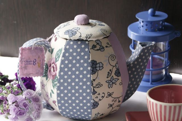 Лавандовый домик: Текстильный чайник