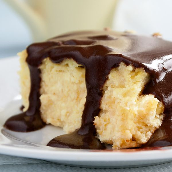 Hot Milk Cake with Chocolate Glaze Recipe from The Bakers Dozen