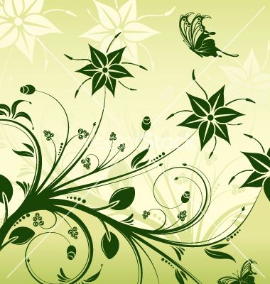 floral-nature-design-vector-20783.jpg (380×400) | Scroll Saw ...