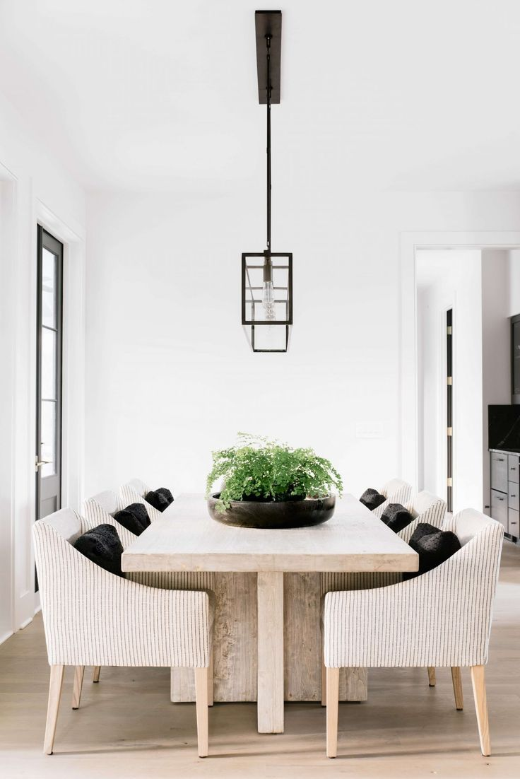 Modern Clean Dining Room Farmhouse Dining Rooms Decor Dining Room Table Centerpieces Farmhouse Dining Room