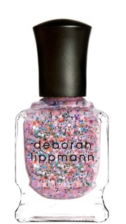 I have to find this!   Glitter + bubble gum pink.....what more could a girl ask for??  Deborah Lipmann sure knows how to do glitter!
