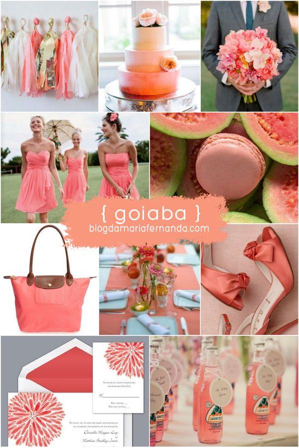 Decoração de Casamento : Paleta de Cores Goiaba | Wedding Inspiration Board Color Palette Guava | http://blogdamariafernanda.com/decoracao-de-casamento-paleta-de-cores-goiaba