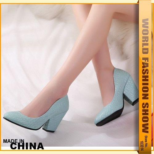 2015 Ретро Дизайн Женщины Коренастый Пятки Насосы Удобные Стельки Сплошной Менее Платформа Круглый Носок Женщин ОЛ Свадебные Повседневная Обувь