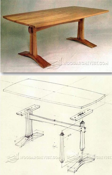 Craftsman Coffee Table Plans - Furniture Plans and Projects | WoodArchivist.com