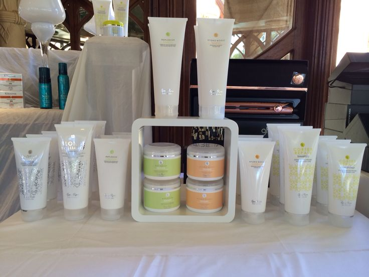 Some of our Gary Rom Haircare products on display at Sun City at the Nedbank Golf Challenge for The Style Affair