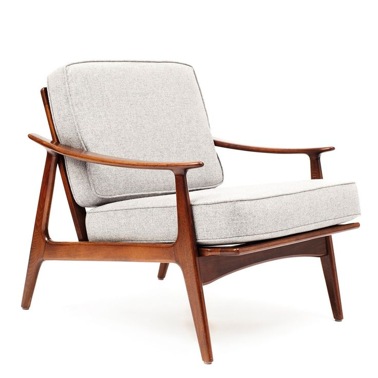 VINTAGE - DANISH MODERN ARMCHAIRS (SET OF 2) - $ 5,000.00 Here is an elegant pair of Danish armchairs with detachable cushions. Mid-century Danish design breathes life into a room. These chairs are suggestive of a corner office or a waiting room.