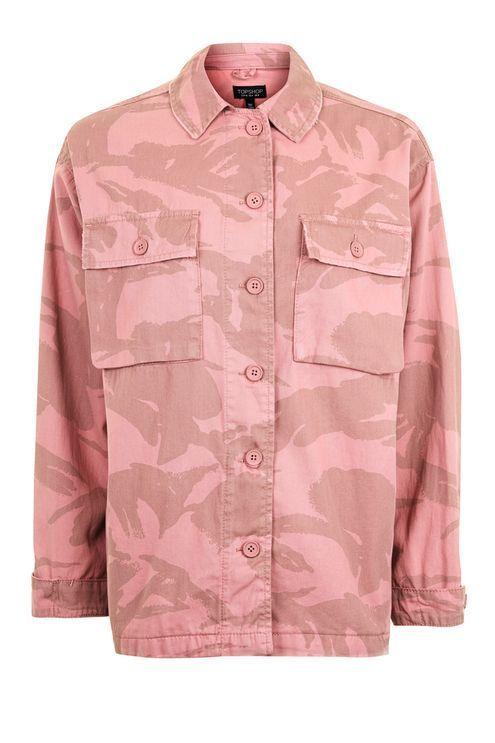 Pink Camouflage Shacket