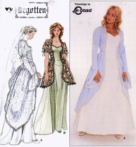 Begotten Wedding Dress Historical Style Gown Simplicity