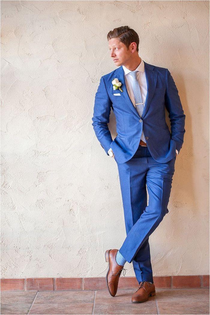 f94e455e8fd9f4 blauer anzug ideen zum stylischen look zu einer hochzeit die eigene  hochzeit der große tag stilvoll treffen