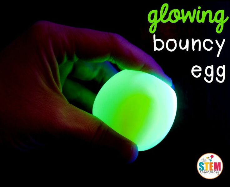 What an awesome science experiment for kids! Make a glowing bouncy egg. It's so easy!