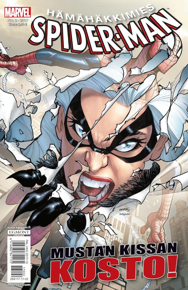 Hämähäkkimien 2/2017 lehtipisteissä 22. helmikuuta! #sarjisparhaus #Marvel #romantiikka