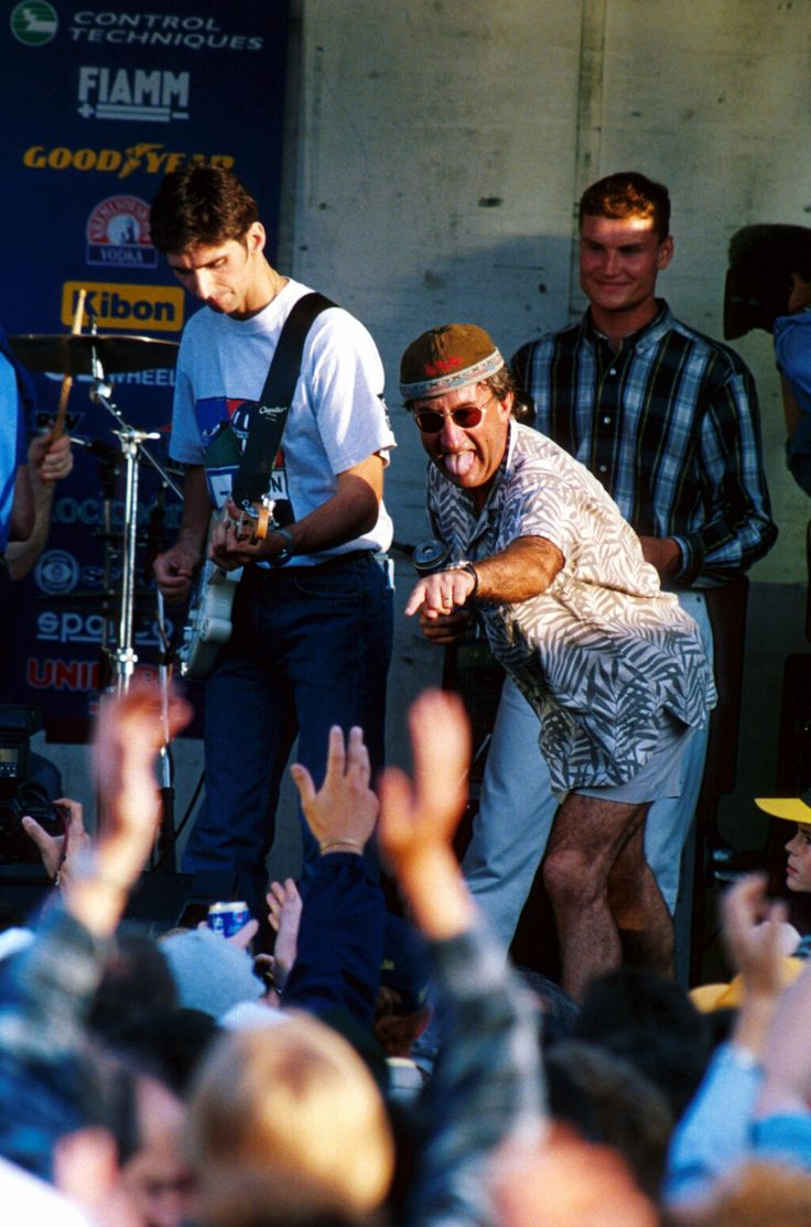 Silverstone 1995: Damon Hill, Eddie Jordan and David Coulthard