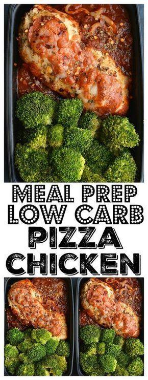 Mahlzeit Prep Pizza Chicken! Chicken Dinner Gewinner! Diese eine Pfanne kohlenhydratarme Mahlzeit