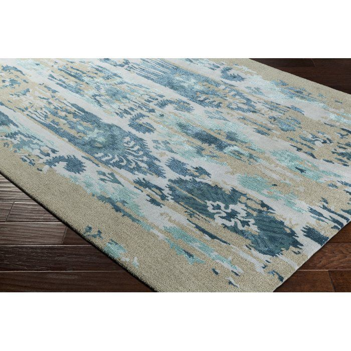 Corinne Hand-Tufted Teal/Navy Area Rug – #Area #co…