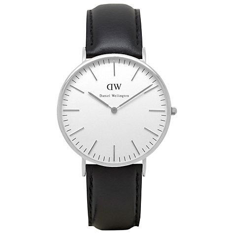 Daniel Wellington 0206DW Men's Classic Sheffield Stainless Steel Leather Strap Watch, - £159