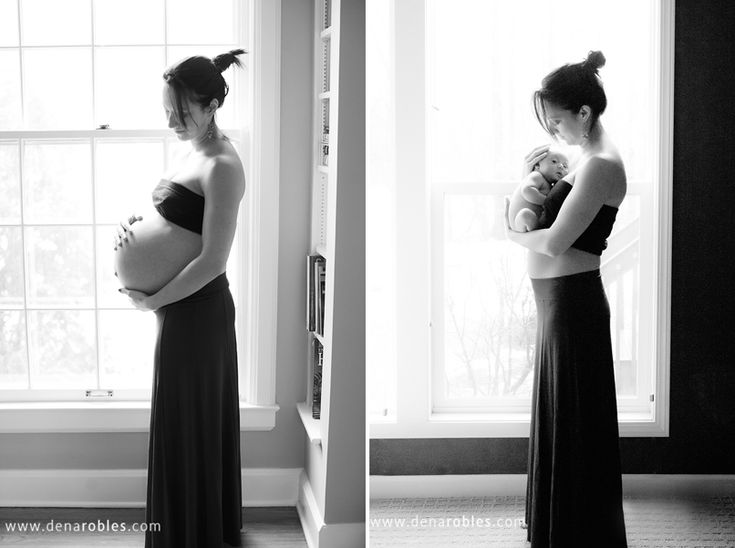 before and after pregnancy photo
