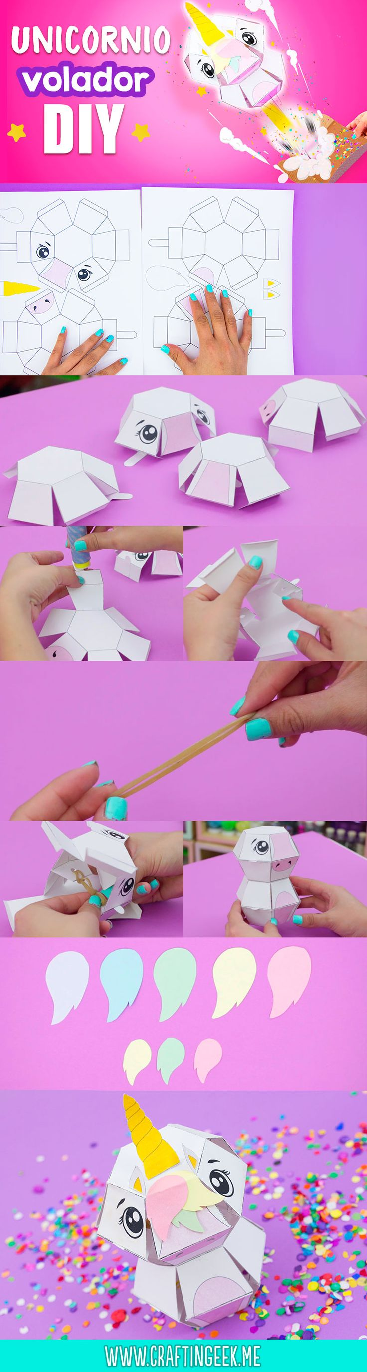 Haz una divertida Tarjeta de Unicornio Explosiva, perfecta para regalar a tu mejor amiga #diy